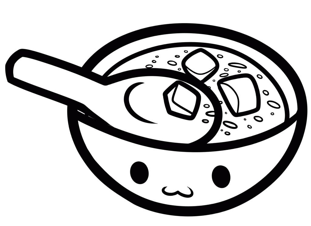 Miso Soup Coloring Page Coloring Pages Coloring Pages For Kids Coloring For Kids