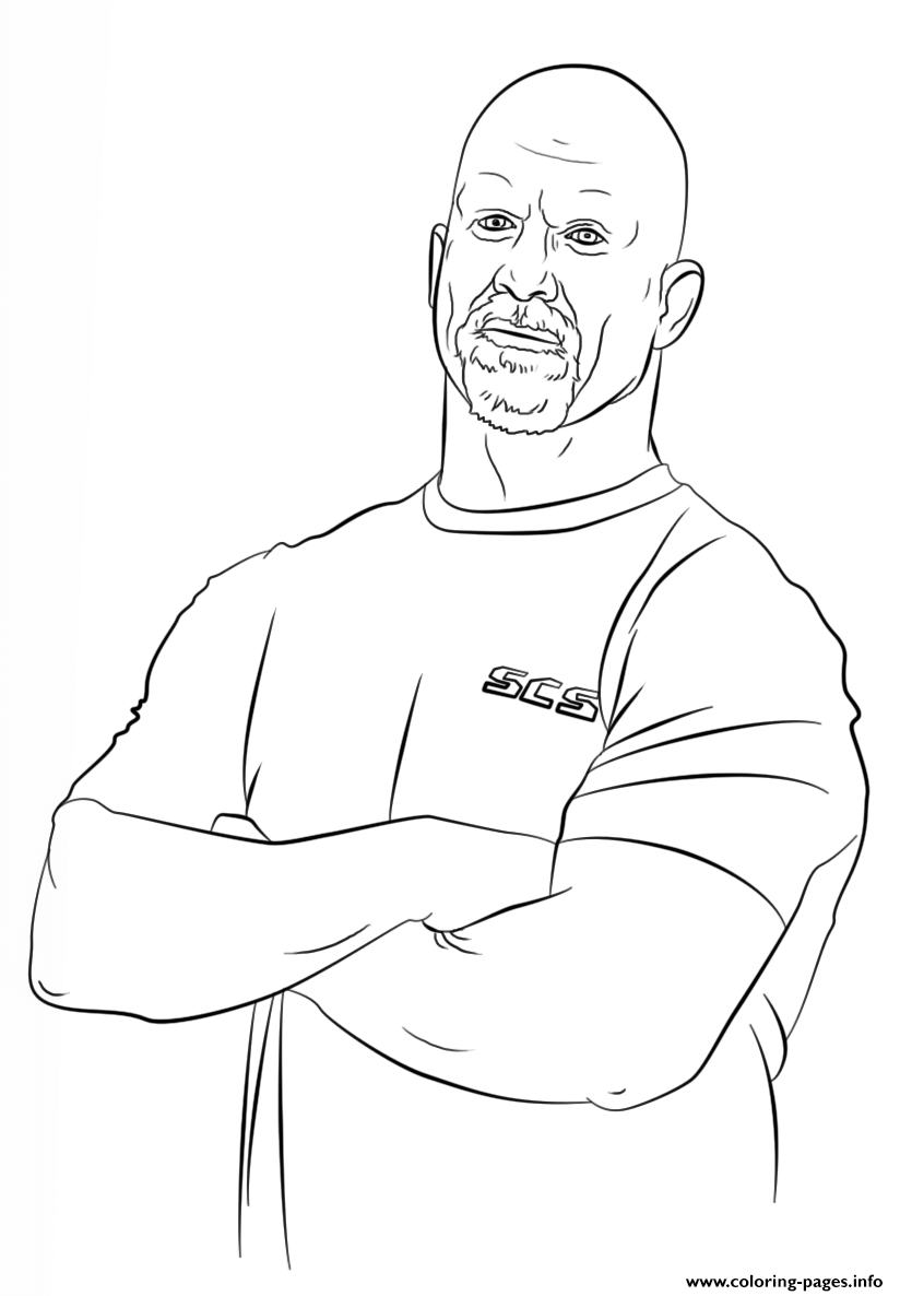 Print Wwe Stone Cold Steve Coloring Page Coloring Pages Wwe Coloring Pages Coloring Pages Stone Cold Steve