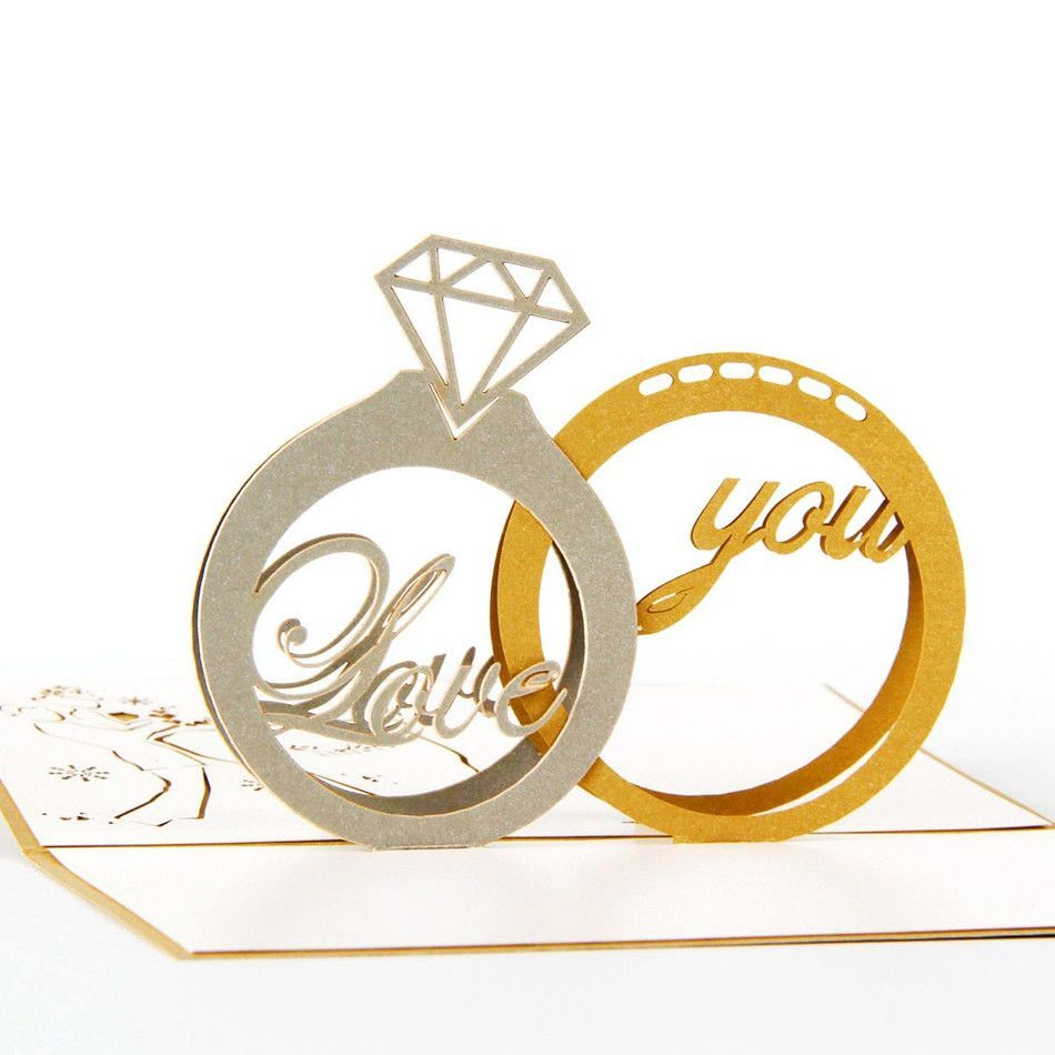 Diamond Ring Invitation Greeting Card Wedding Engagement