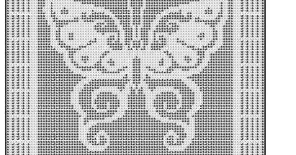 Free Filet Crochet Graph Patterns | FILET CROCHET BUTTERFLY AFGHAN ...