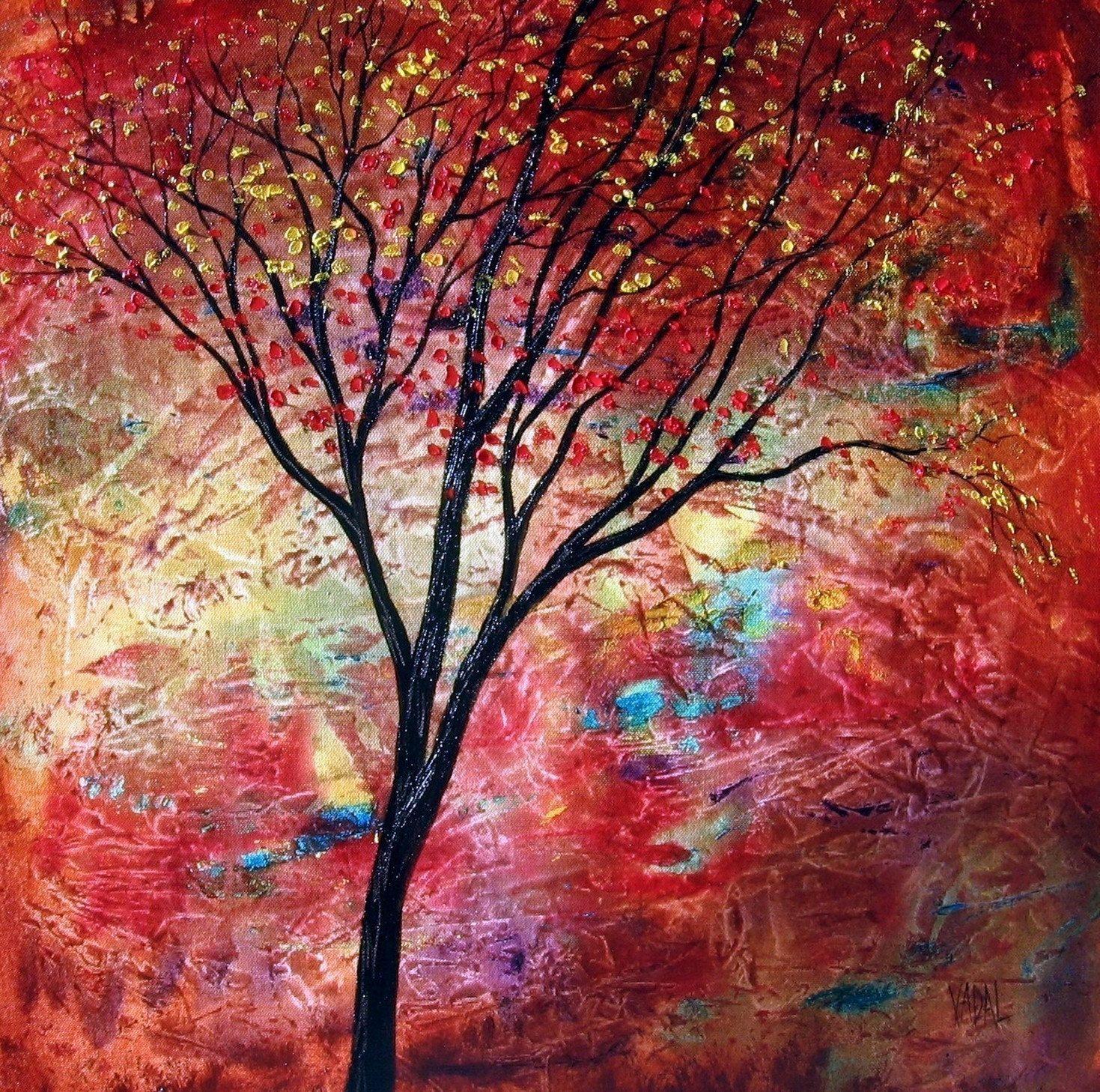 Red Tree Lustre Jean Vadal Smith Artz Pinterest