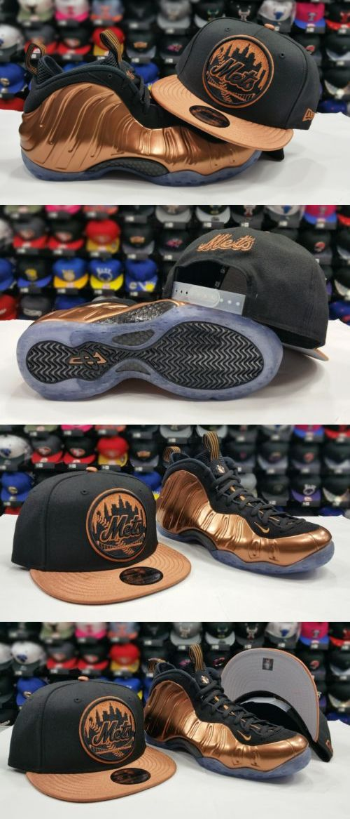 83f3c8e17fac8 Hats 52365  Matching New Era New York Mets Snapback Hat Nike Foamposite  Black Copper Cap -  BUY IT NOW ONLY   31.99 on eBay!