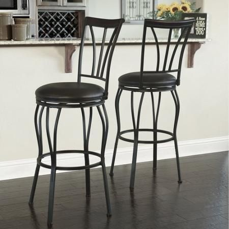 Awesome Bronze Metal Swivel Bar Stools