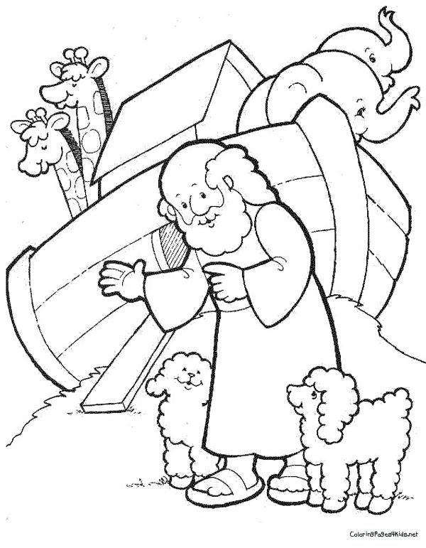 noahs ark coloring pages free printables - Noahs Ark Coloring Pages Kids