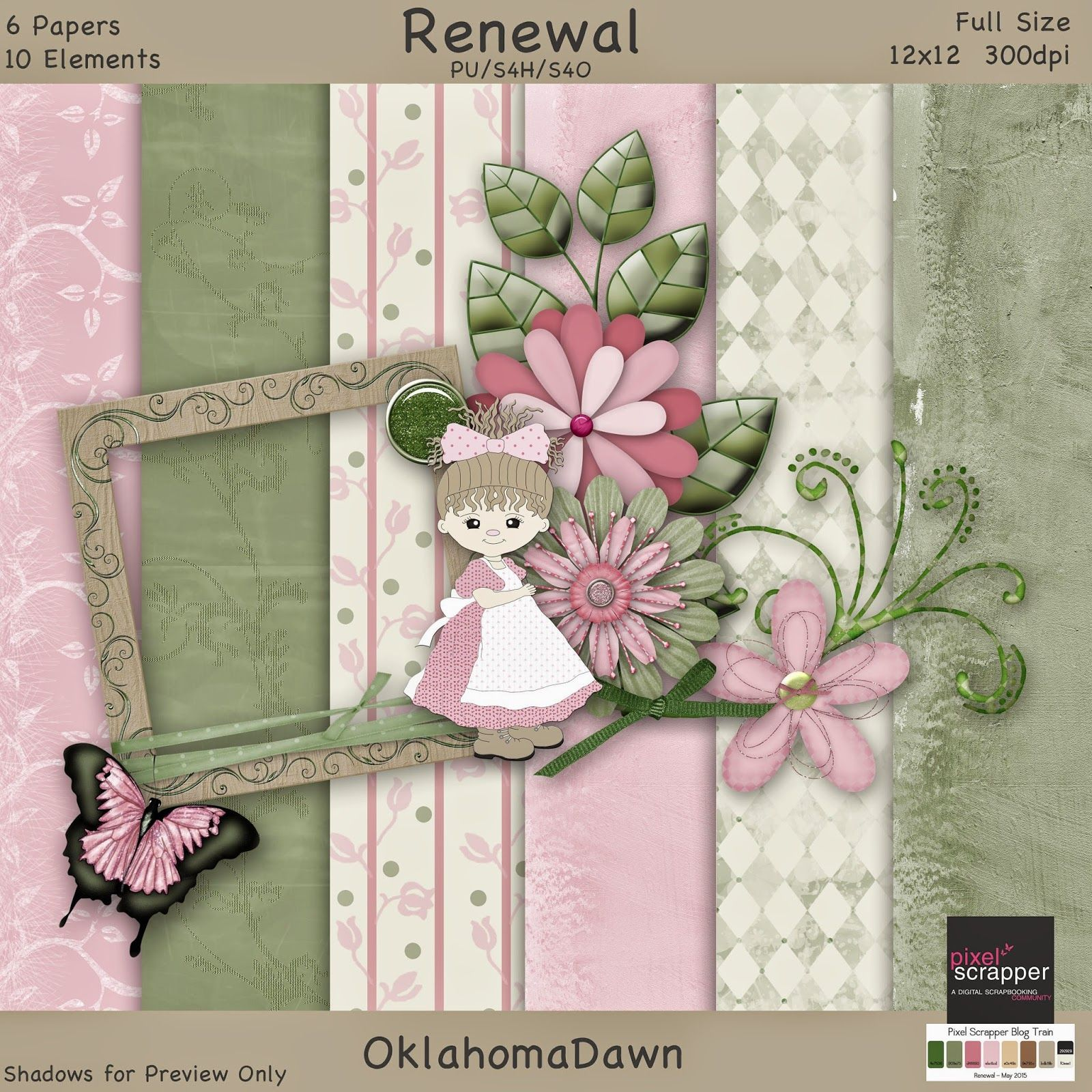 OklahomaDawn Scrap Freebies 4 u ♥ Pinterest