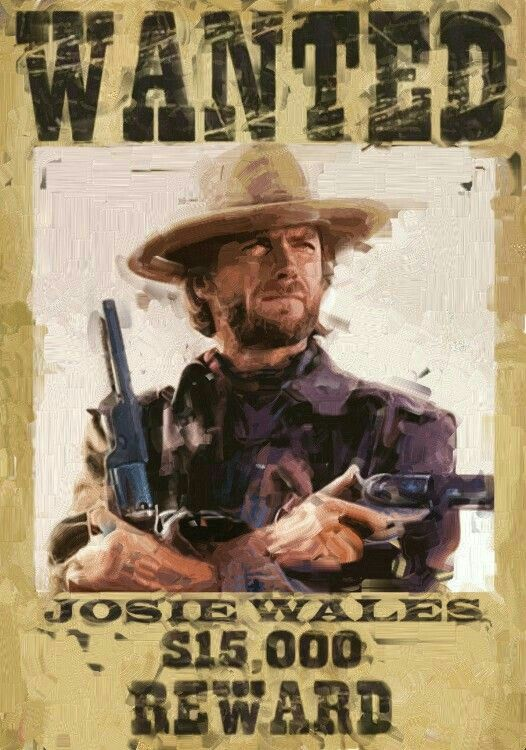 Movie Memorabilia Posters Clint Eastwood Outlaw Josey Wales