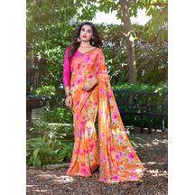 e35940d636d Avanya Multicolor Georgette Printed Saree