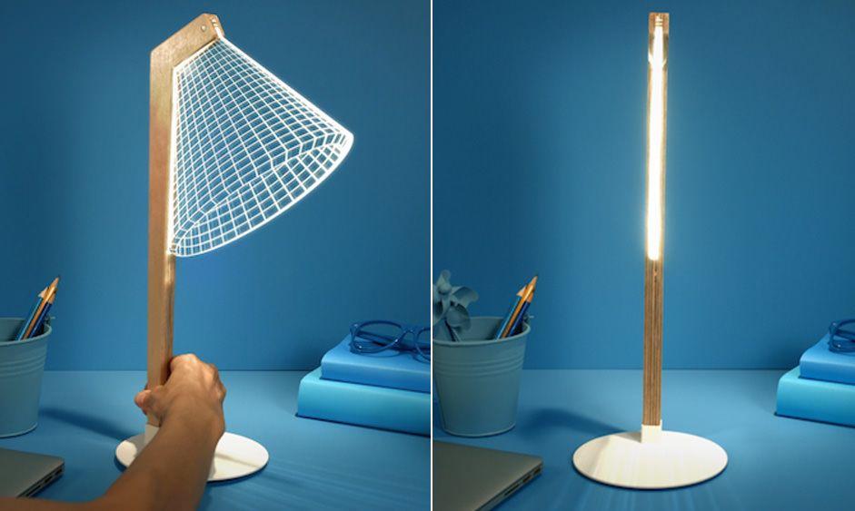 Lâmpada plana em 2D cria ilusão de ótica de LED