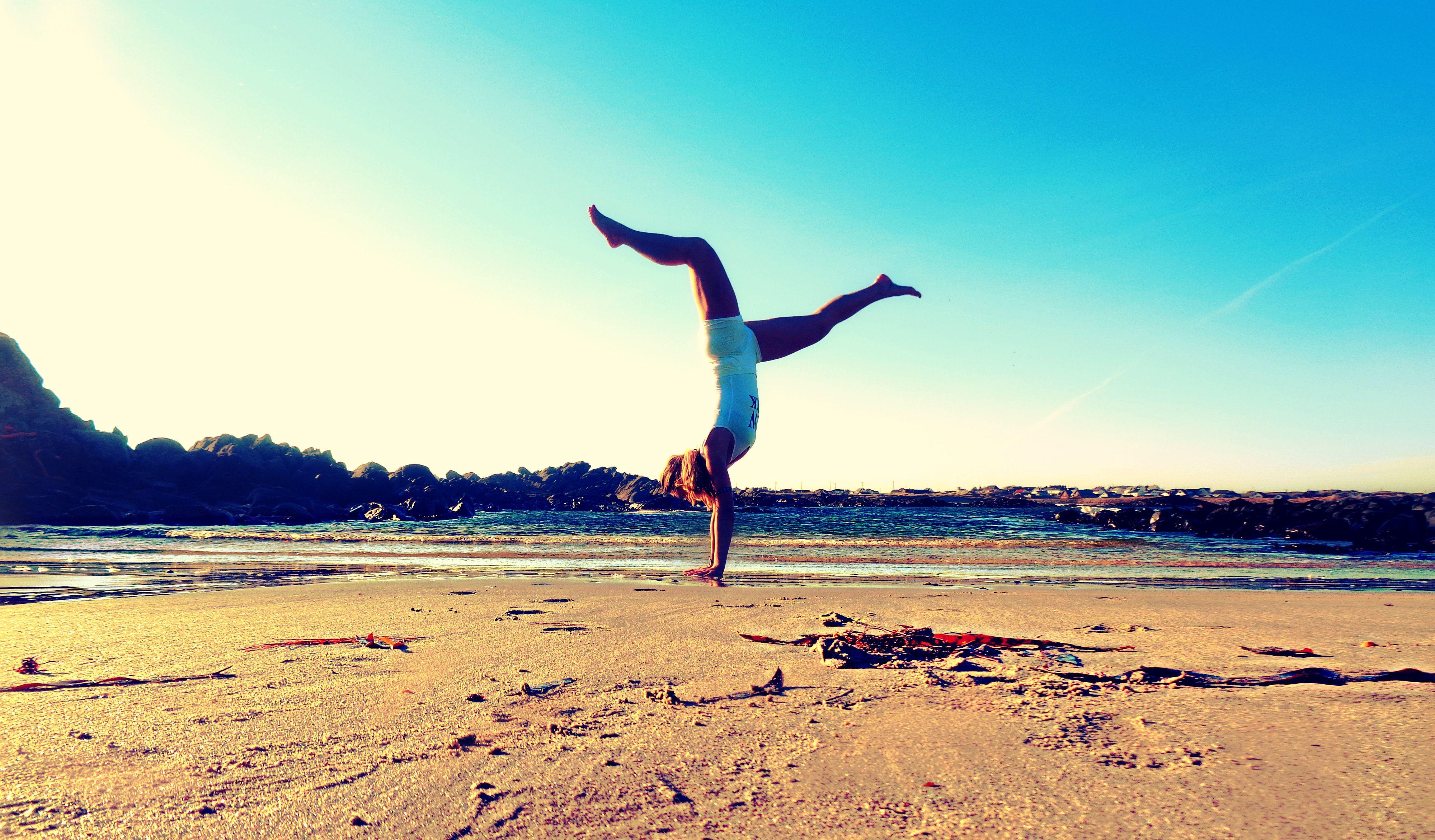 My morning Beach Yoga <3 #LoveandBlessings