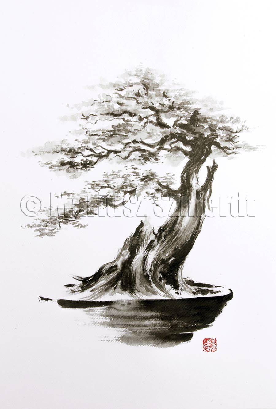 bonsai tree drawing tattoo images galleries with a bite. Black Bedroom Furniture Sets. Home Design Ideas