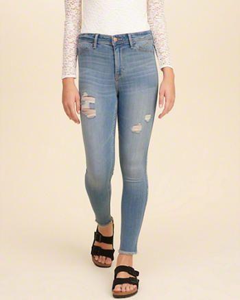 hollister crop jeans
