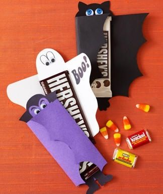 Construction paper Hershey bar covers