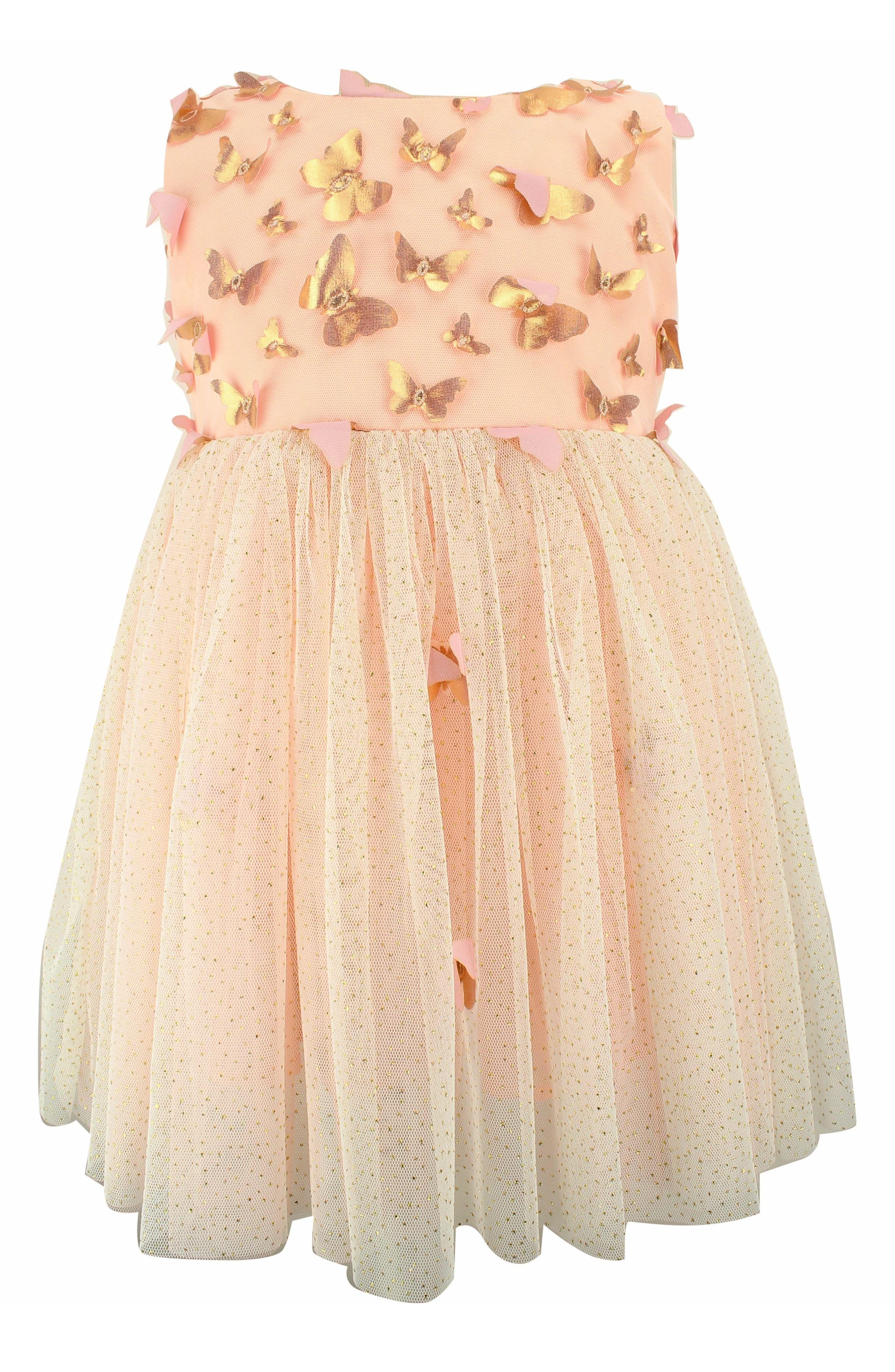 faa93574b8065 Toddler Girl's Popatu Butterfly Appliqué Tulle Dress, Size 2T - Pink ...