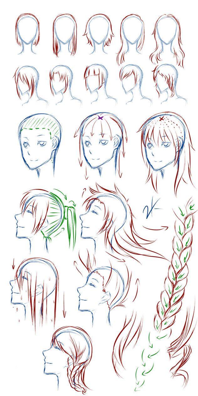 Admirable 1000 Images About Drawing Hair On Pinterest Manga Art Stress Short Hairstyles Gunalazisus