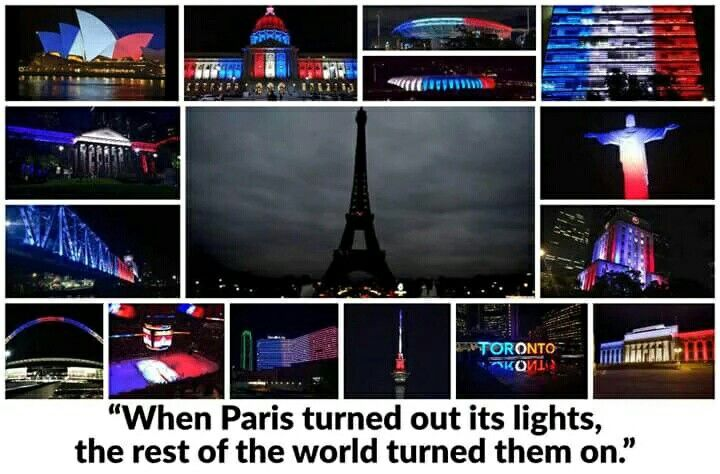 When Paris turned out its lights, the rest of the world turned them on. #ParisAttacks [13-nov-2015]