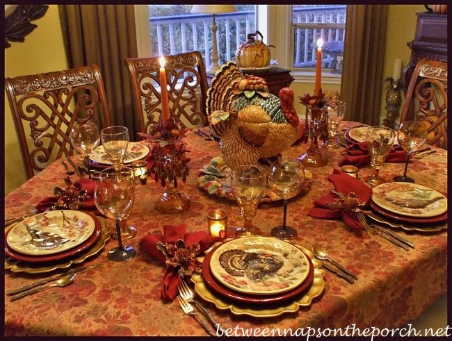 Happy thanksgiving turkey salad salad plates and for Pottery barn thanksgiving