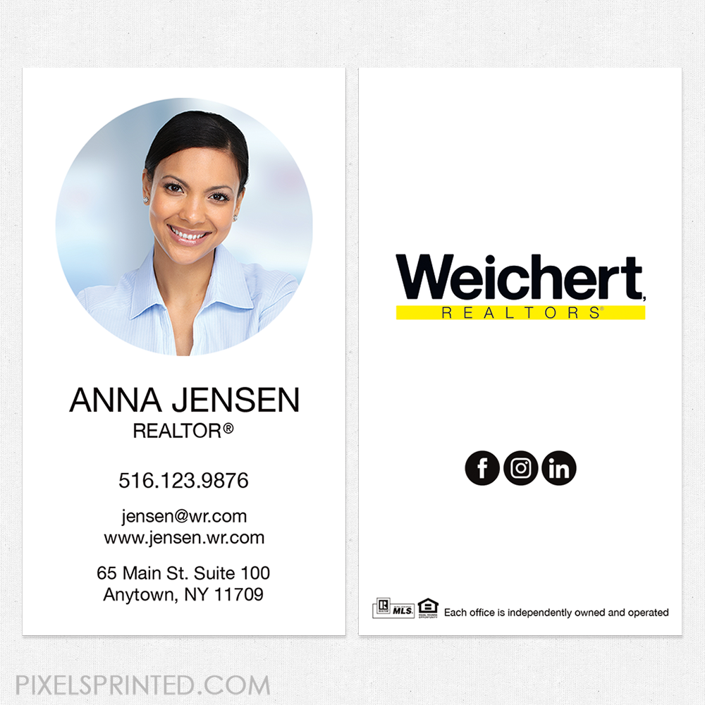 Weichert Business Cards Business Cards Weichert Cards Realtor