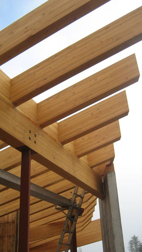 Structure Steel To Wood Home Building In Vancouver Wood Timber Buildings House In The Woods