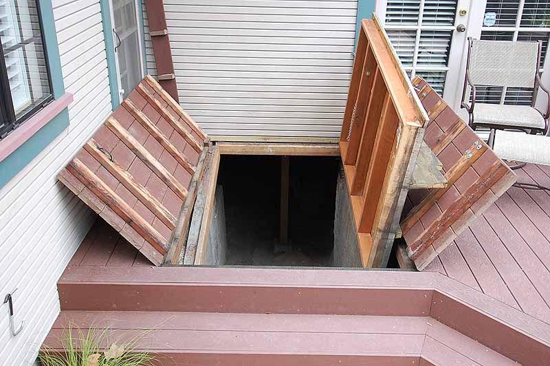 Build Your Storm Shelter Using These Cool Steel Bilco Doors Design : Great  Deck Over Bilco Doors Bilco Doors Under Deck