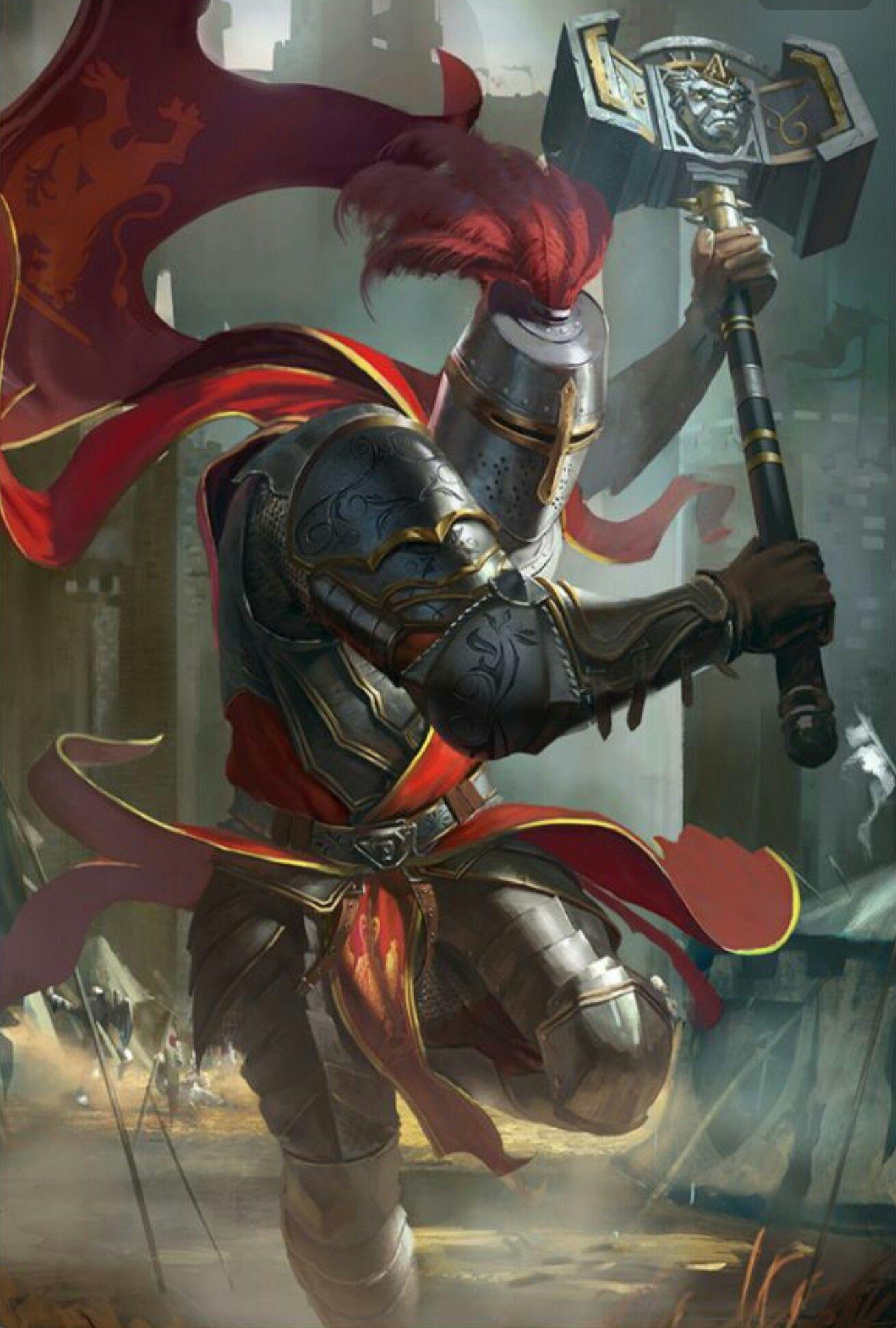 hammer knight fighter pathfinder pfrpg dnd d d d20 fantasy