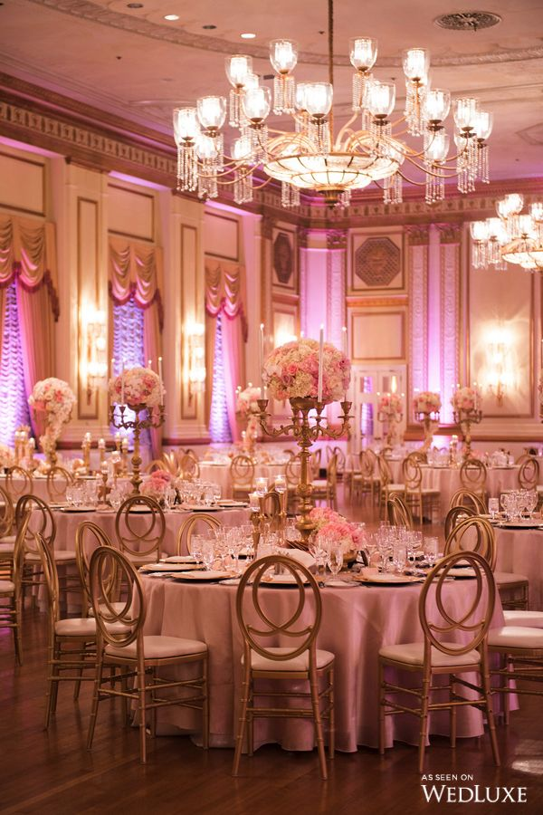 Wedluxe royal wedding vibes achieved with regal pink and