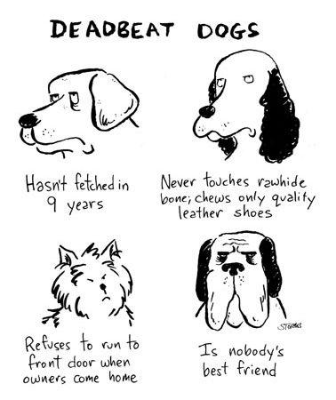 Darn Deadbeat Dogs.