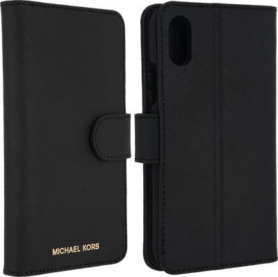 5779255a6341 Michael Kors Saffiano Leather Folio Case for iPhone X