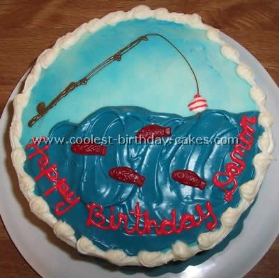 Best 25 fishing theme cake ideas on pinterest fishing for Fish cake design