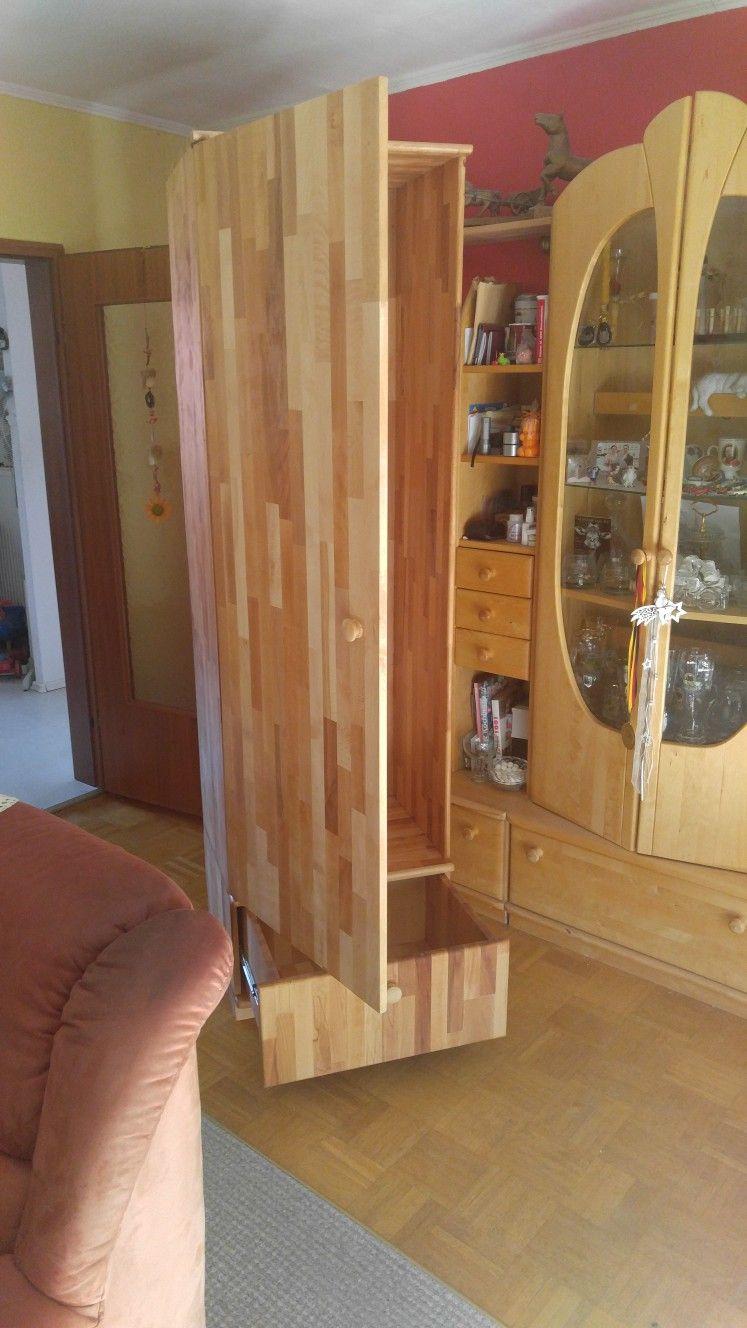 Ein Massivholz Schrank Gebaut Aus Leimholz Buche 210cm Hoch Und 60cm Breit Und 60cm Tief Zimmer Schrank Bauen Bunte Designs