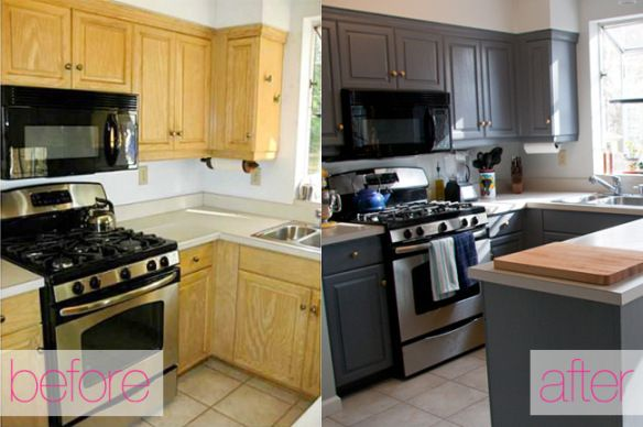 Budget-Friendly Small Kitchen Make Over Ideas - Cheap DIY ideas for a tiny kitchen.