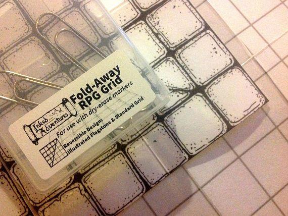 Fold Away Rpg Grid Pocket Sized Battle Mat Https Www Etsy Com Uk Listing 532880224 Inked Adventures Fold Away R Rpg Metal Paper Clips Dry Erase Whiteboard