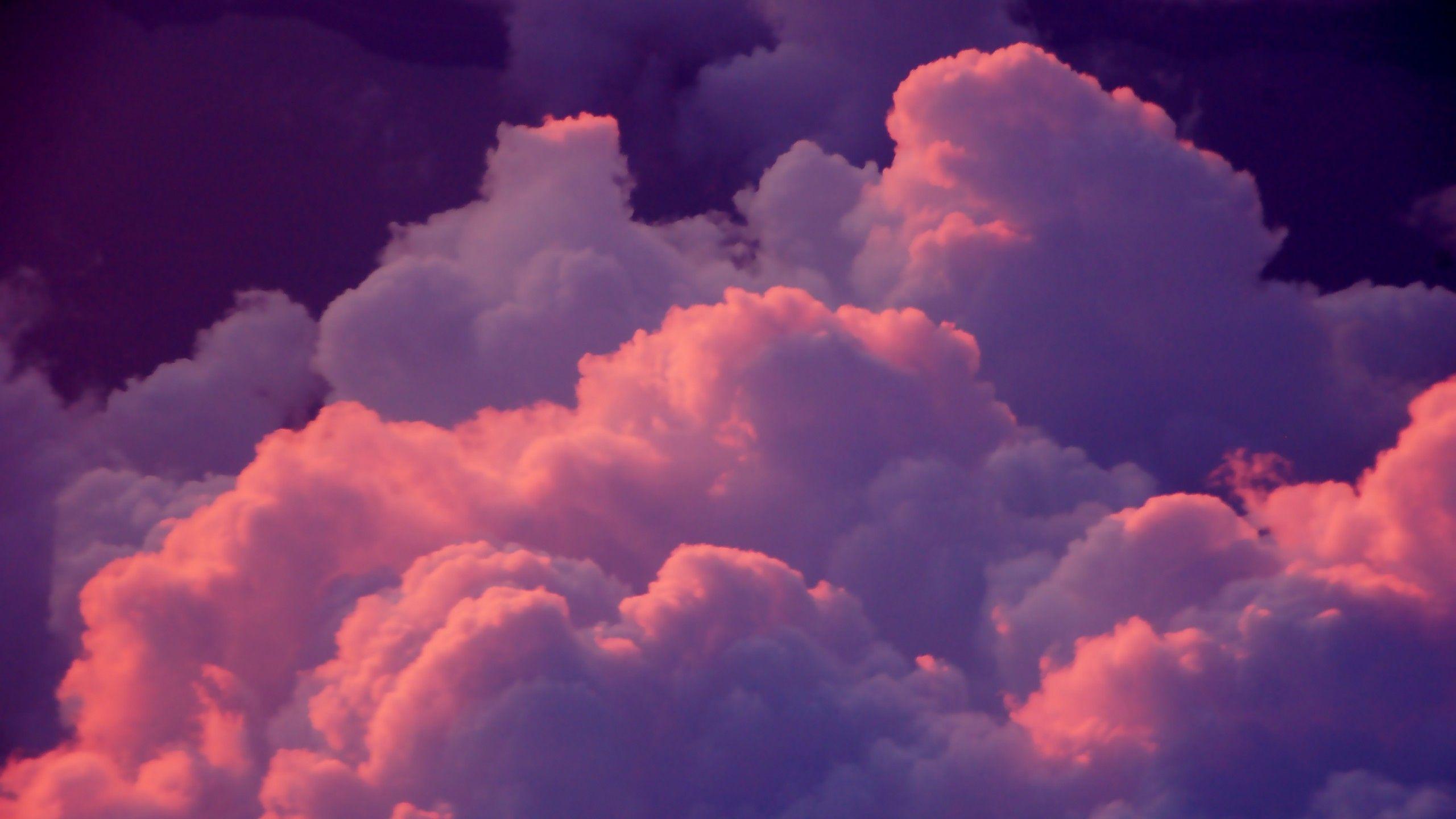 Tumblr Clouds Pink Szukaj W Google Pink Clouds Wallpaper Sky Aesthetic Aesthetic Desktop Wallpaper