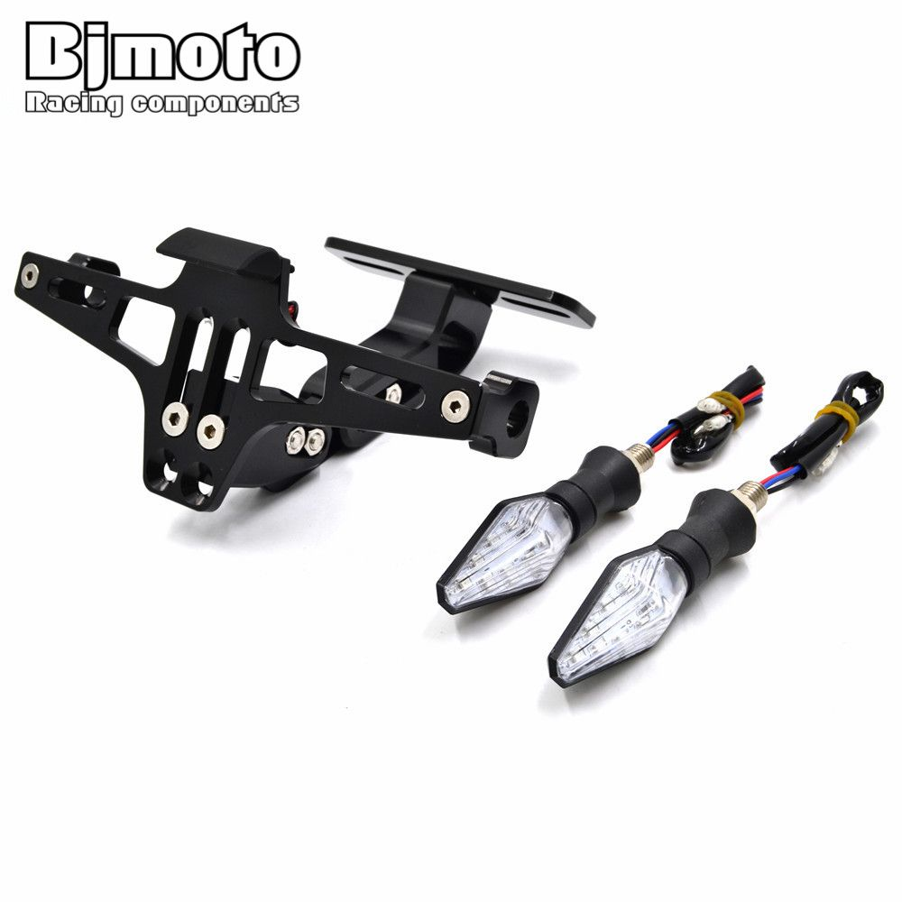 check price bjmoto universal motorcycle cnc license plate frame ...