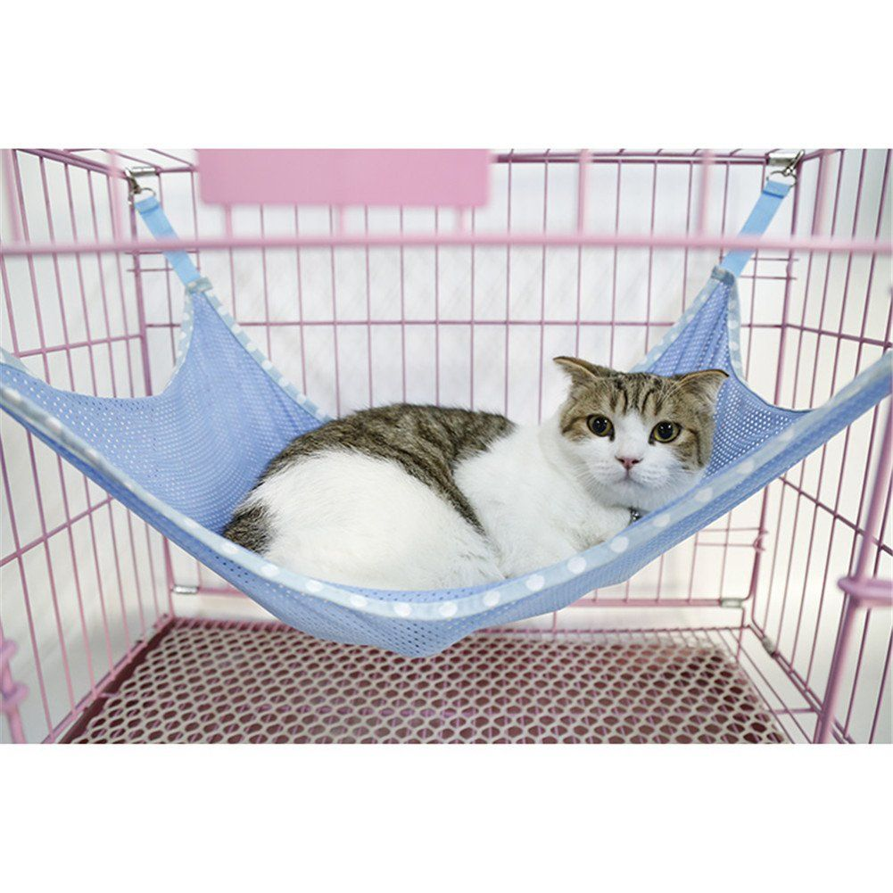 Pet Cage Hammock Cat Rabbit Dog Breathable Mesh Hanging Bed Swing Pet Blankets Pet Products