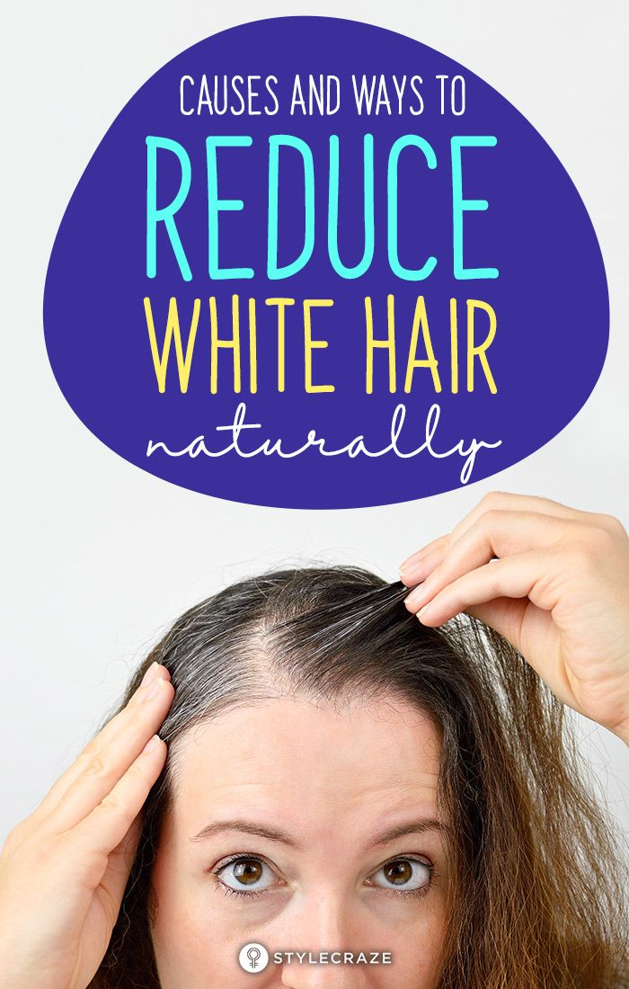 7 Causes And 12 Ways To Reduce White Hair Naturally -   17 hair Natural look