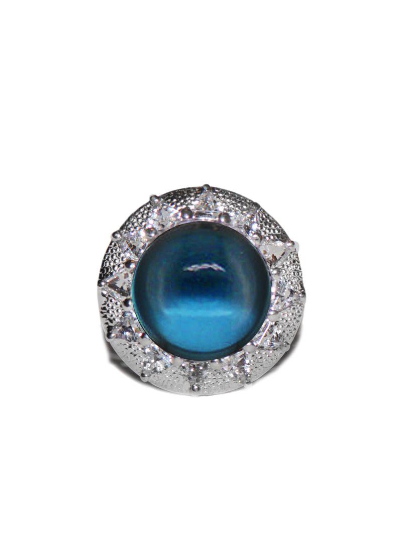 Anzie - Aztec Mayan Ring - Smooth London Blue Topaz | Jewlery