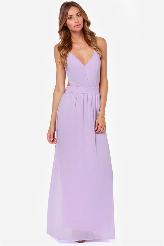 4621674ff95 LULUS Exclusive Rooftop Garden Backless Lavender Maxi Dress at LuLus.com!