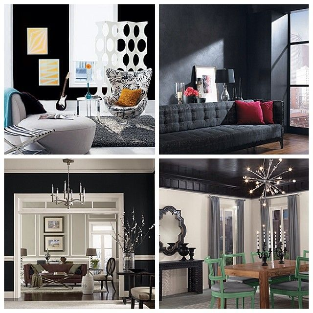 black is beautiful no matter what interior design on choosing paint colors interior id=66638