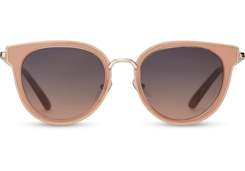 TOMS Bellevue Blush Sunglasses with Navy Pink Gradient Lens yKsRTh0ne