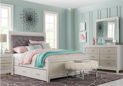 Genial Picture Of Amelia White 5 Pc Twin Panel Bedroom From Teen Bedroom Sets  Furniture