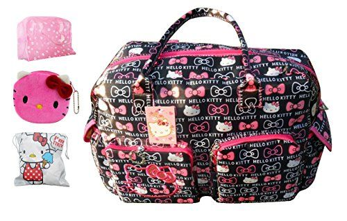 1239685a96 Hello Kitty Ultra-large Capacity Carry on Holdall Disper Tote Bags Shoulder  Bag  Handbag