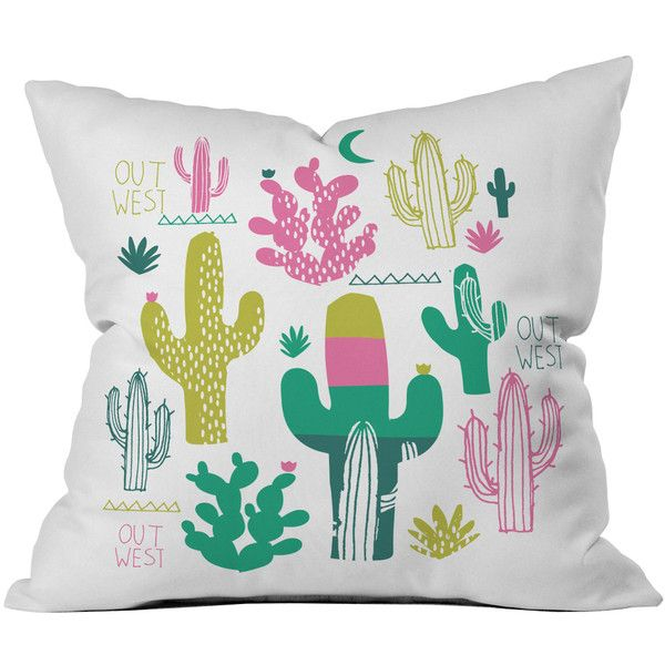Dot & Bo Western Sunset Outdoor Pillow ($34) ❤ liked on Polyvore featuring home, outdoors, outdoor decor, western garden decor, outdoor patio decor, outdoor throw pillows, outdoor garden decor and outdoor accent pillows