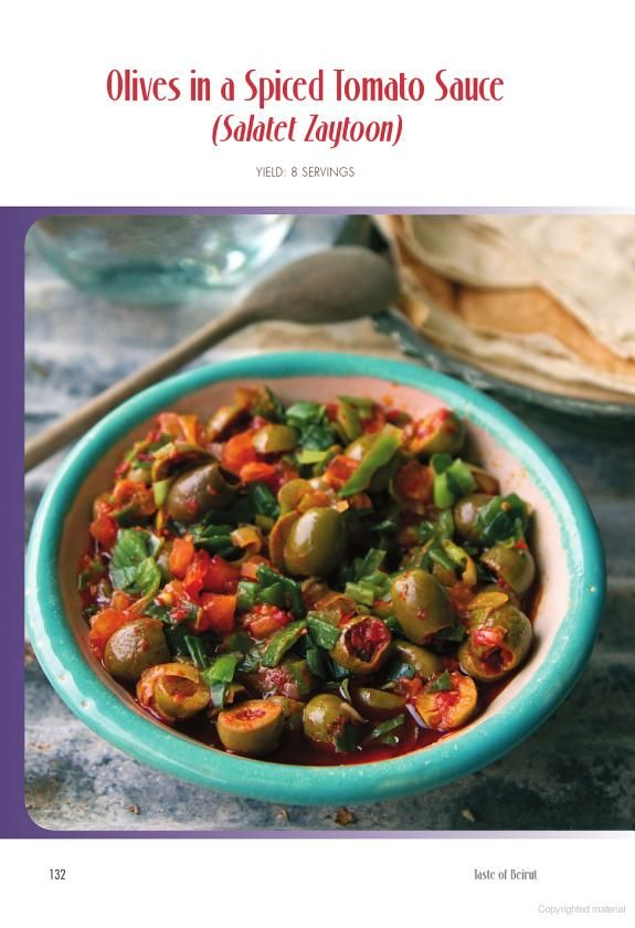olives in spiced tomoato sauce from book taste of beirut 175 delicious lebanese recipes from classics to joumana accad google books