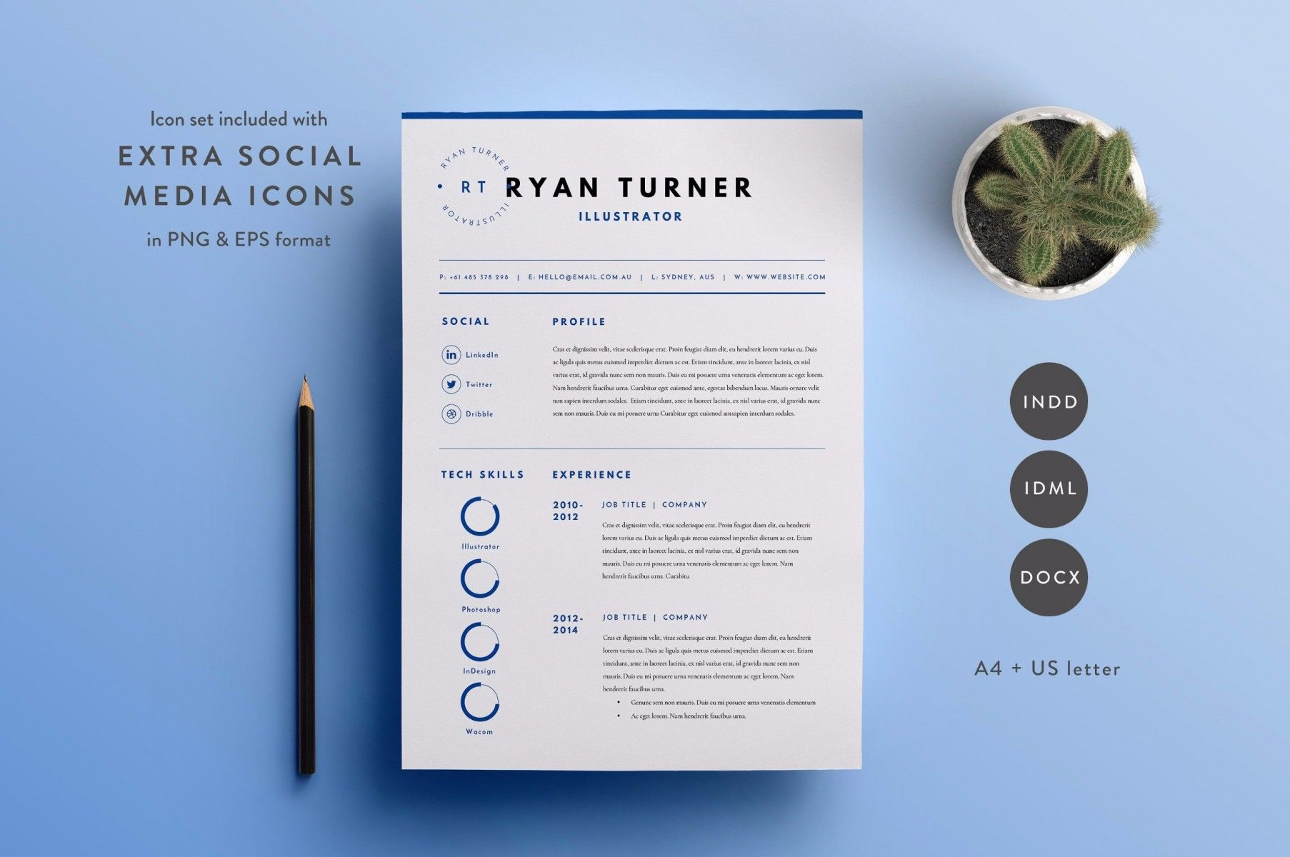 25+ Professional Resume Templates – PSD,Word,Indesign,DOC,PDF | 25+ ...