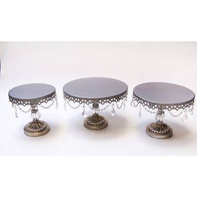 3 Piece Ball Base Chandelier Cake Plate Stand Set  sc 1 st  Pinterest & 3 Piece Ball Base Chandelier Cake Plate Stand Set | Bases ...