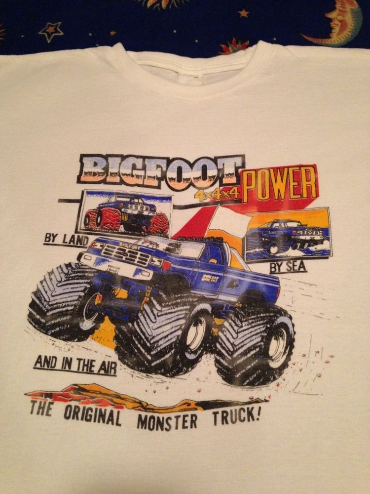 Available On Ebay Vintage Bigfoot Monster Truck T Shirt Ford 4x4 80s Racing Sz M L Hot Rod