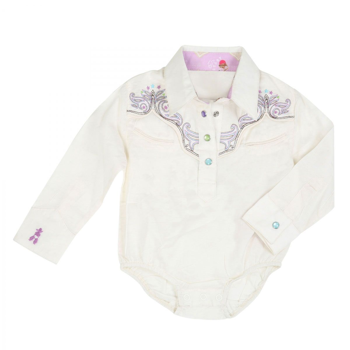 59de4f9ee Wrangler All Around Baby Embroidered White Long Sleeve Onesies|Baby/Toddler Western  Clothing