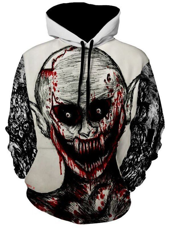Kangaroo Pocket Devil Printed Halloween Hoodie is part of Emo Clothes Cheap - Cheap Fashion online retailer providing customers trendy and stylish clothing including different categories such as dresses, tops, swimwear