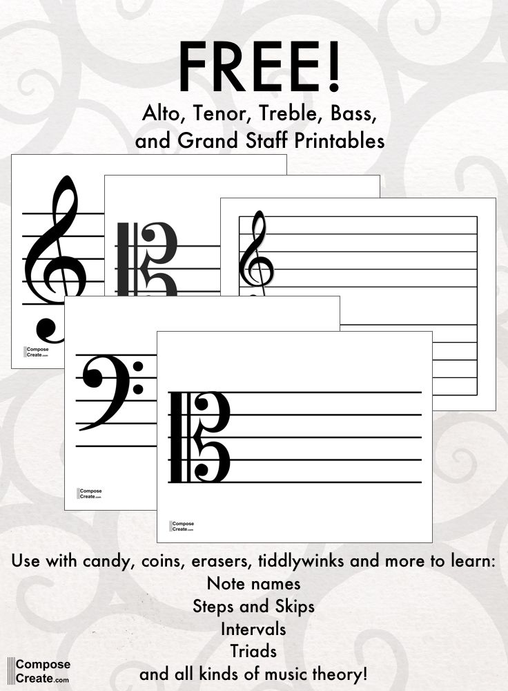 printable treble clef staff