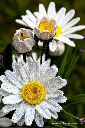 Shasta Daisy Flower pattern by Happy Patty Crochet | Pinterest ...